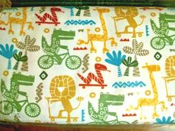 #070 New Flannel Fabric BTY ; 2 Yards  Animals bike skateboa