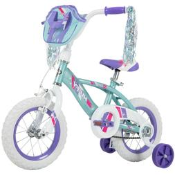 """Huffy 14"""" Glimmer Girls Bike - Quick Connect Assembly - Blue"""