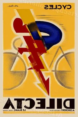 "1926 ""Cycles Dilecta"" Vintage Style French Bicycle Poster -"