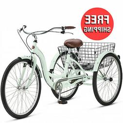 26-inch Adult Tricycle Trike Bike 3 Wheel Bicycle with Rear