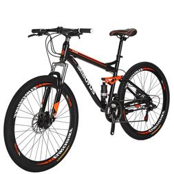"27.5"" Full Suspension Mountain Bike Shimano 21 Speed Men's B"