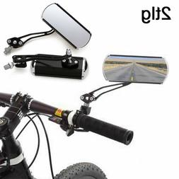 2x Bicycle Mountain Bike Handle Rearview Mirror Aluminum All