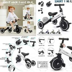 Xjd 3 In 1 Kids Tricycles For 1-3 Years Old Kids Trike 3 Whe