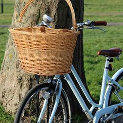 35x26x22CM Trendy Style Brown Front Willow Wicker Bicycle Bi
