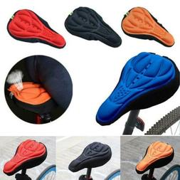 Bike Bicycle Silicone 3D Gel Saddle Seat Cover Pad Padded So