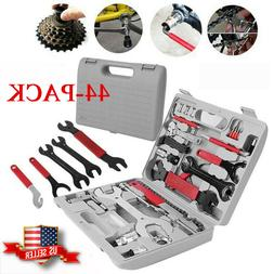 44PCS Complete Bike Bicycle Repair Tools Tool Kit Set Home M