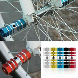 A Pair Bike Bicycle Cycling Cylinder Wheel Alloy Stunt Foot