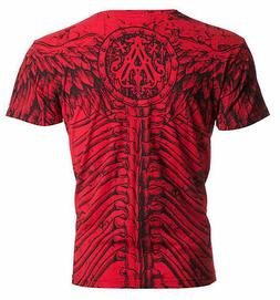 Archaic Affliction Mens S/S T-Shirt COLLISION Wings Skull RE