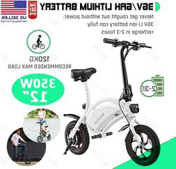 Best 12'' Electric Bike E-bike Bicycles City Folding Cycling
