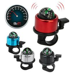 Bicycle Bike Ring Alarm Bell Compass Aluminum Alloy 4 color
