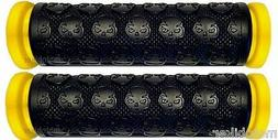 BICYCLE BMX YELLOW SKULL GRIPS FIT ELITE GIANT GT DK HUFFY K