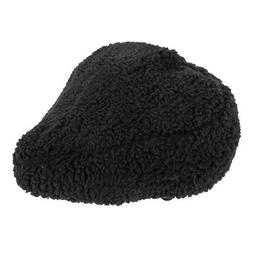 Sunlite Bicycle Fur Saddle Cover Black for Cruiser Excercise