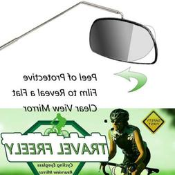 Bike Bicycle Cycling Riding Mirror Helmet Mount Rearview Rea