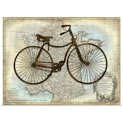 Bike France Poster Art Print,  Home Decor