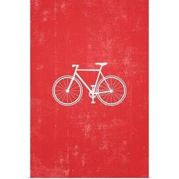 Bike silhouette art Poster Art Print, Bicycling Home Decor