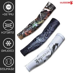 Cooling UV Sun Protection Arm Sleeves Golf Sports Outdoor Cy