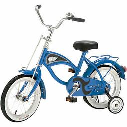 """Morgan Cycle 14"""" Cruiser Bicycle with Training Wheels, Blue"""