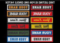 CUSTOM EMBROIDERED NAME EMBROIDERY PATCH 1 X 4 INCH BIKER VE