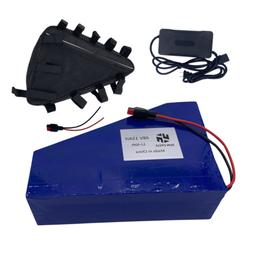 EBIKE BATTERY Triangle Li-ion 48V15AH Charger Bag Rechargeab