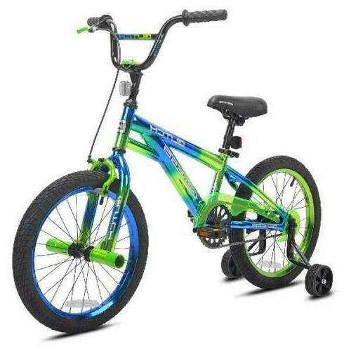"18"" Kids Boys Bicycle Speed with Training 18 inch Freestyle"