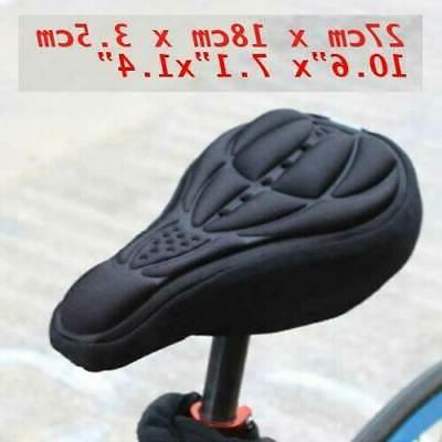 Padded Saddle Cover Bicycle Silicone Soft Comfort Pad Cushion