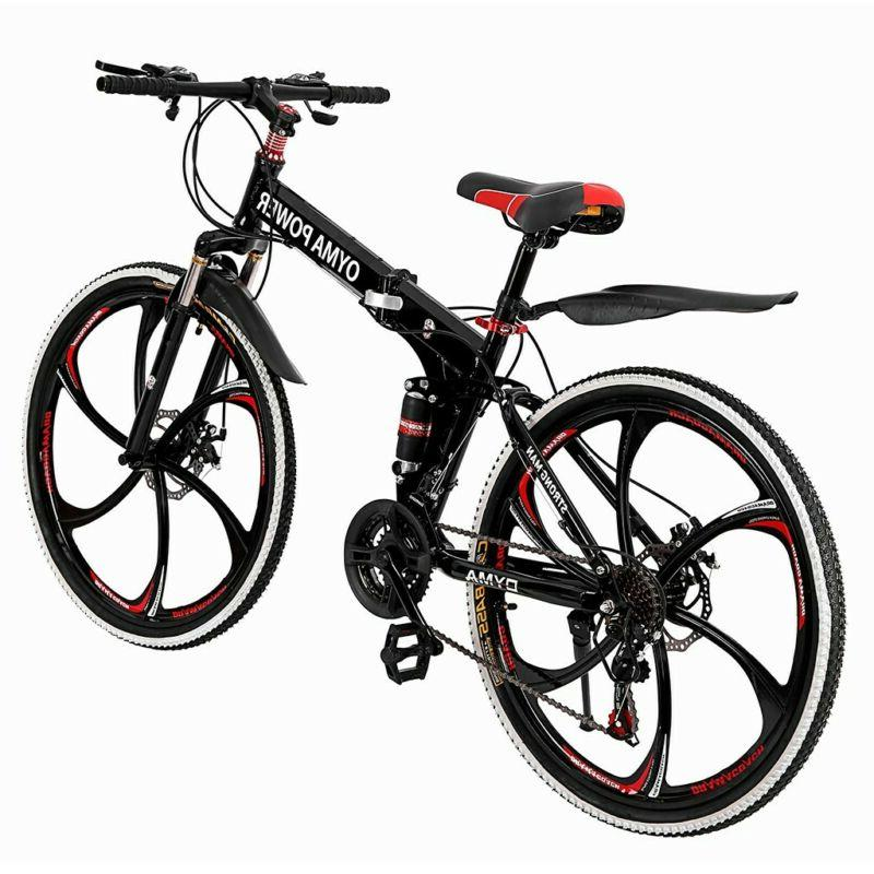 """HOT Outroad 21 26"""" Folding Bike Double Bicycles H"""