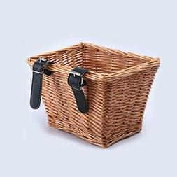 Ladies Bicycle Bike Front Wicker Wire Shopping Basket Luggag