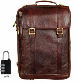 NOORA  Leather bag 18 Inch 4 Use Leather Backpack Bag for Me