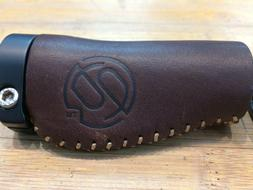 LEATHER BICYCLE GRIPS BRAND ERGO SHORT TWIST SHIFTER  LOCK O