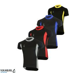 Deckra Mens Cycling Jersey Half Sleeves Breathable Bike Top