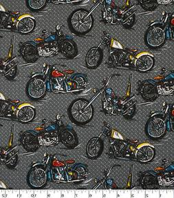 Motor Bikes 100% cotton fabric Fat Quarter for face masks or