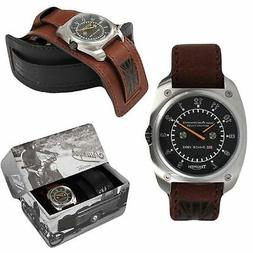 Triumph Motorcycle Leather Speedo Watch ~ Brand New in Box~