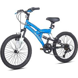 Mountain Bike For Boys Bicycle 20 Inch Blue Adjustable Seat