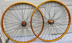 "NEW 29"" BMX Wheel Set, Wheelie Bike, 29er BMX, Gold"