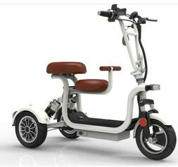 New electric bike 10 inch 3 wheel electric bicycle parent ch