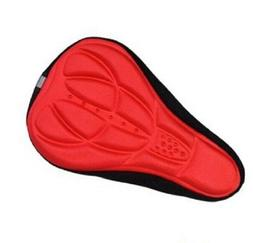 Red Silicone Bike Seat Cover - Bicycle Cycling Padded Gel Cu