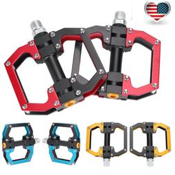 Road Mountain Bike Pedals Aluminum Alloy MTB Bicycle Platfor