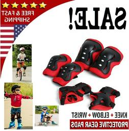 Kid's Roller Blading Wrist Elbow Knee Pads Blades Guard 6 PC