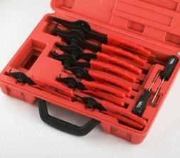 New Snap Ring Plier Set 11pc Mechanic PRO Circlips W/case Ca