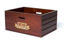 State Bicycle Co. | Wooden City Bike Crate - Rear