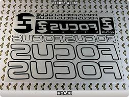 FOCUS Stickers Decals  Bicycles Bikes Cycles Frames Fork Mou