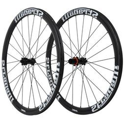 Stradalli 40mm Carbon Clincher Wheel 700C  Road Bicycle Fron