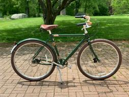Raleigh Tourist 3-Speed Bike Leather Saddle, Fenders, Guards