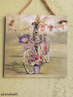 Wall art,Wall decor,Bicycle decor,Decoupage picture,Wall pla