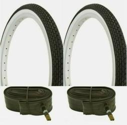 """WHITE WALL SMALL BRICK 20x1.75"""" BIKE BICYCLE TIRES TUBES LOW"""