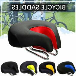 Wide Bicycle Seat  Noseless Mountain Bike Saddle Breathable